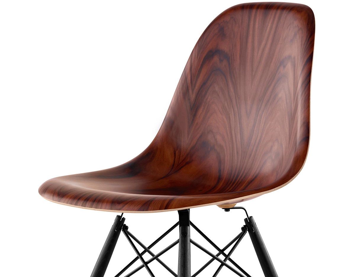 eames molded wood side chair office support cushion with dowel base hivemodern
