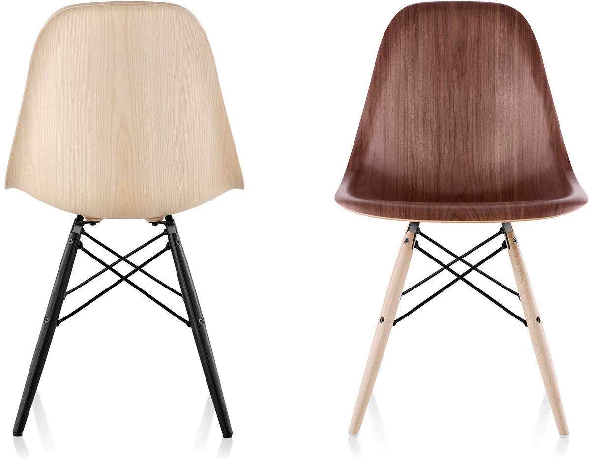 eames molded wood side chair folding reclining adirondack plans with dowel base hivemodern