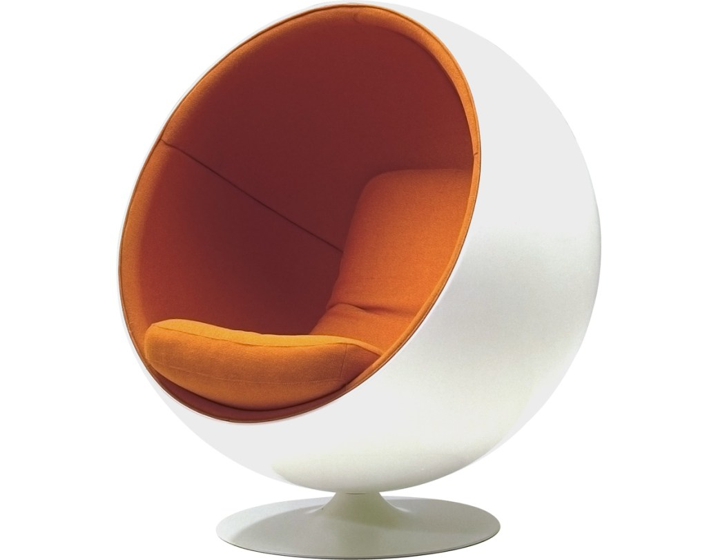 "Ball Chair, Eero Aarnio, 1963. (Sometimes called ""Globe Chair"".)"