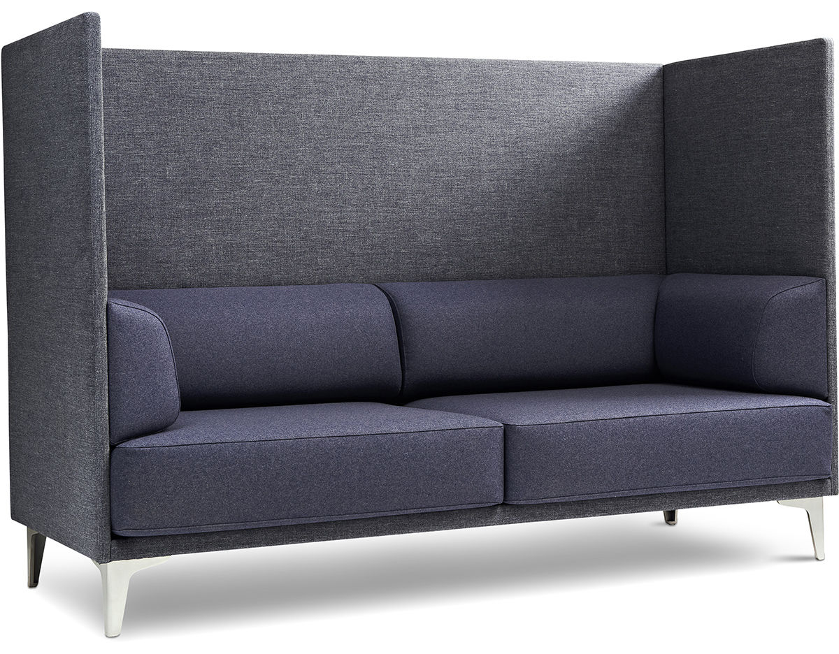 Couch Chair Ej400 Apoluna Box High Back 2 Seat Sofa Hivemodern
