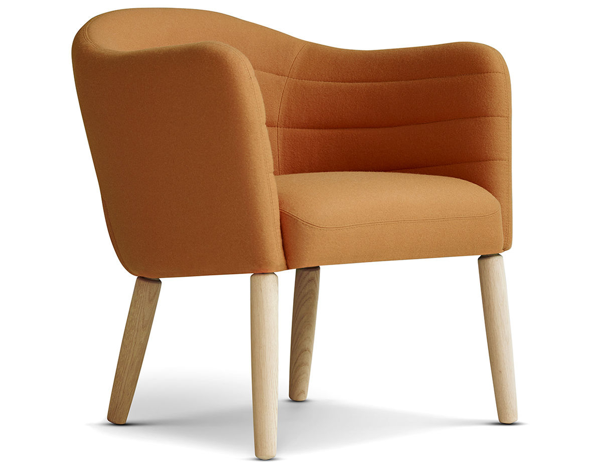 Easy Chairs Ej44 Lemon Easy Chair With Wood Legs Hivemodern