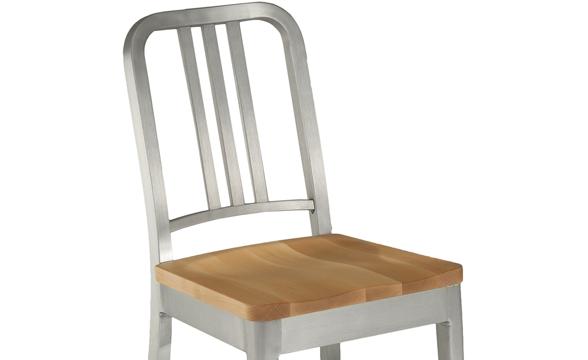 Emeco Navy Chair With Wood Seat  hivemoderncom