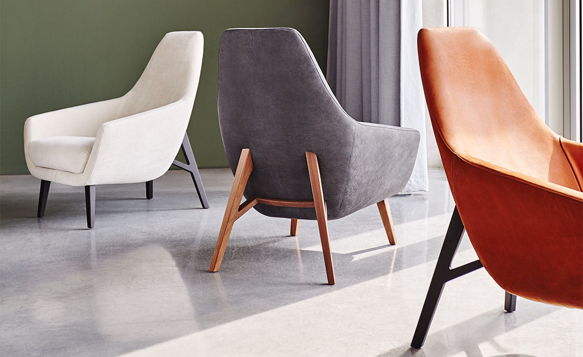 Enzo Lounge Chair With Wood Base  hivemoderncom