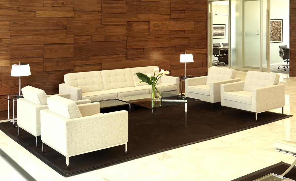 steel chair gold swivel michael murphy florence knoll lounge - hivemodern.com