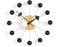 George Nelson Ball Clock In Black & Brass - hivemodern.com