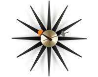 George Nelson Sunburst Clock Black/brass - hivemodern.com
