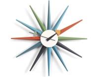 George Nelson Sunburst Clock Multicolor - hivemodern.com