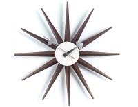 George Nelson Sunburst Clock Walnut - hivemodern.com