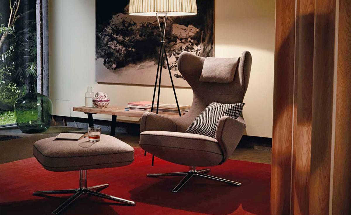 Grand Repos Lounge Chair  Ottoman  hivemoderncom