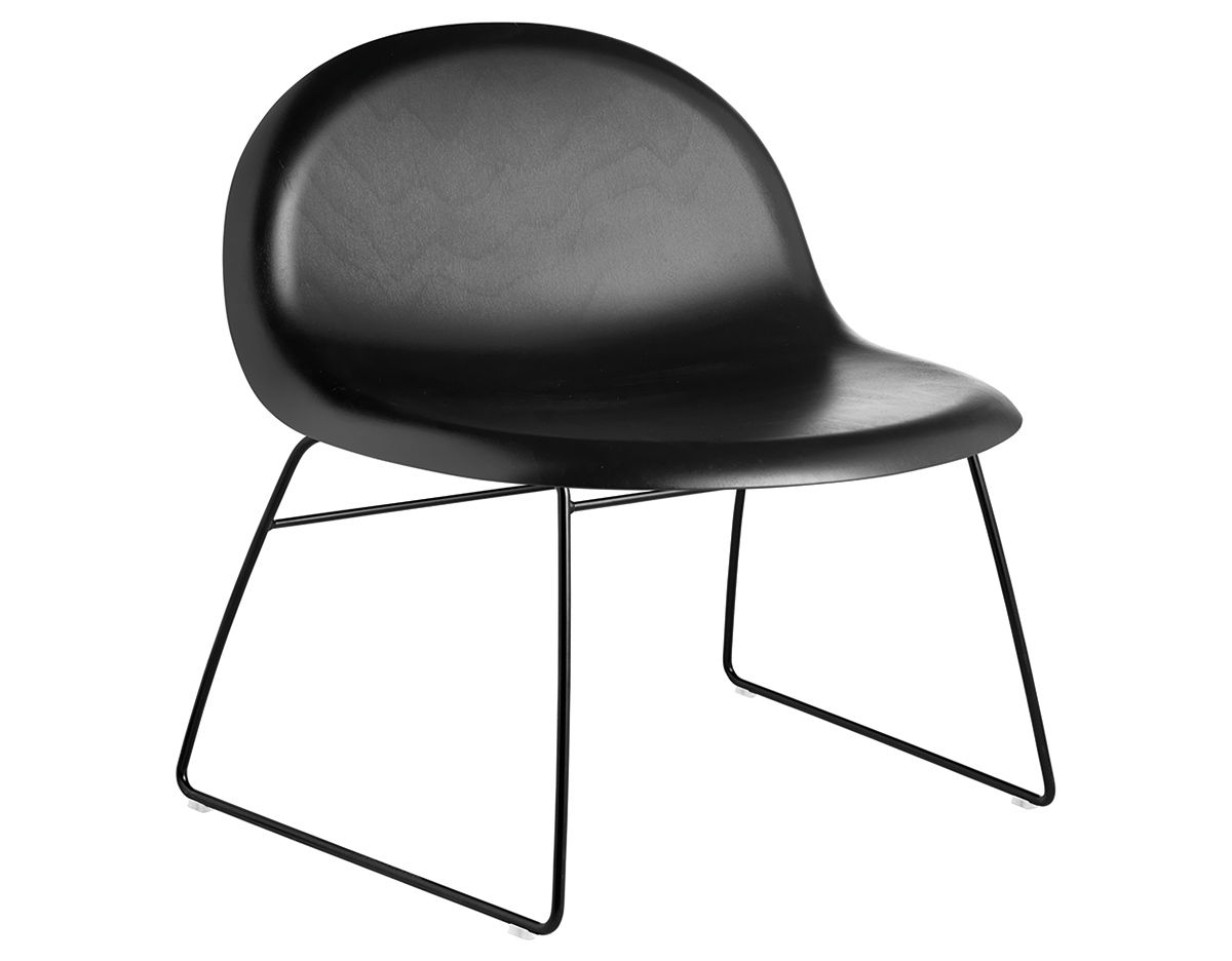 Plastic Lounge Chair Gubi 3d Lounge Chair With Sled Base