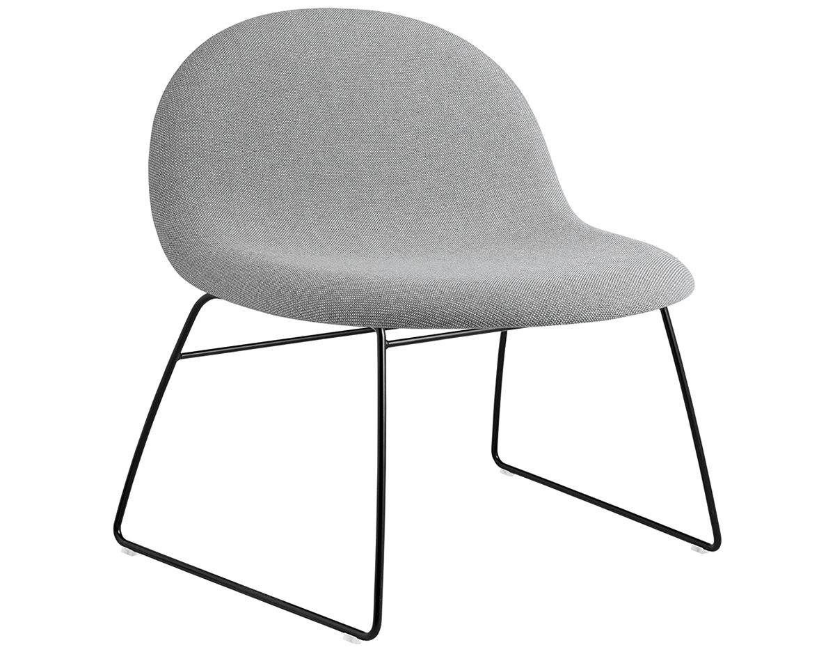 Plastic Lounge Chair Gubi 3d Upholstered Lounge Chair With Sled Base