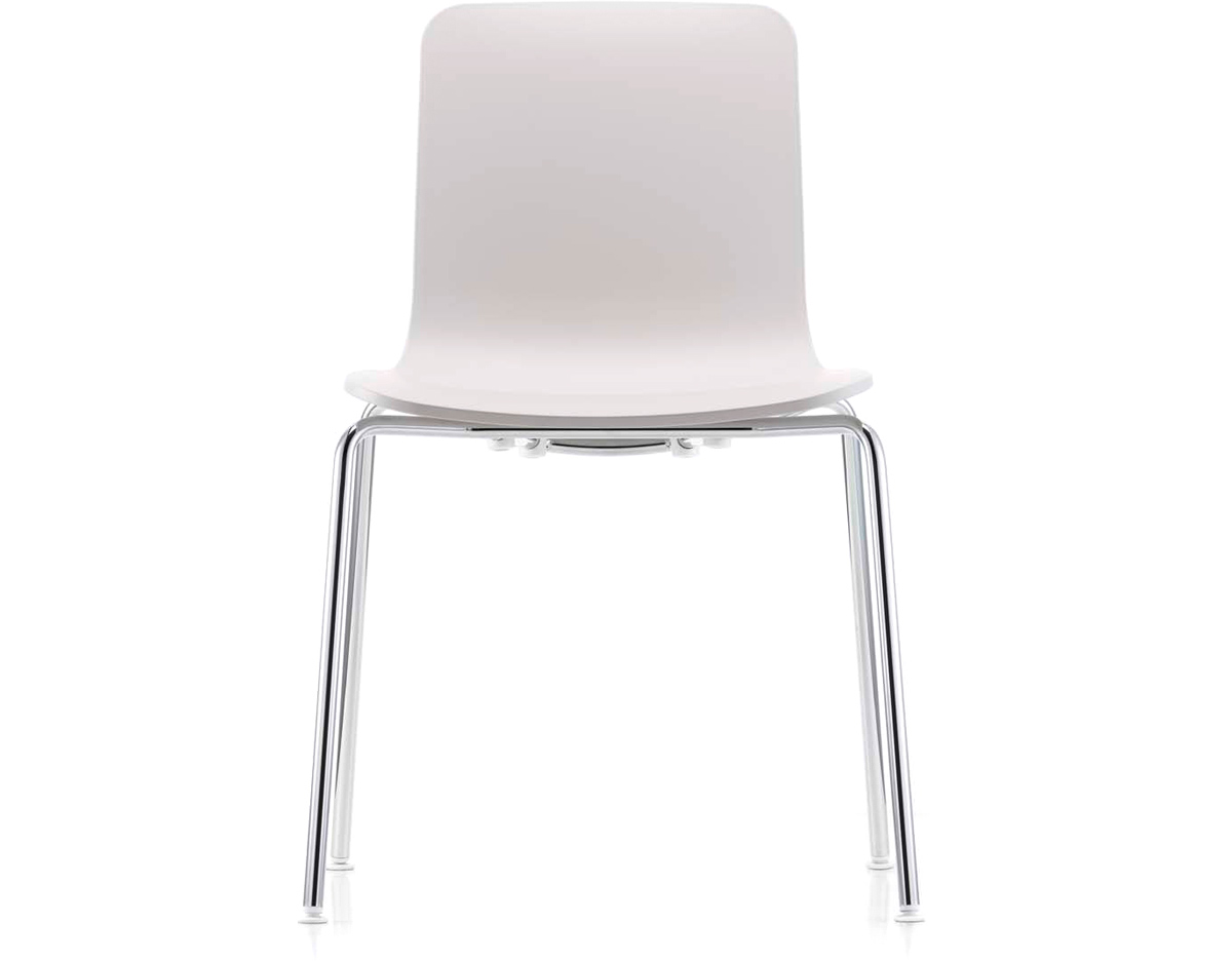 White Stackable Chairs Hal Tube Stackable Side Chair