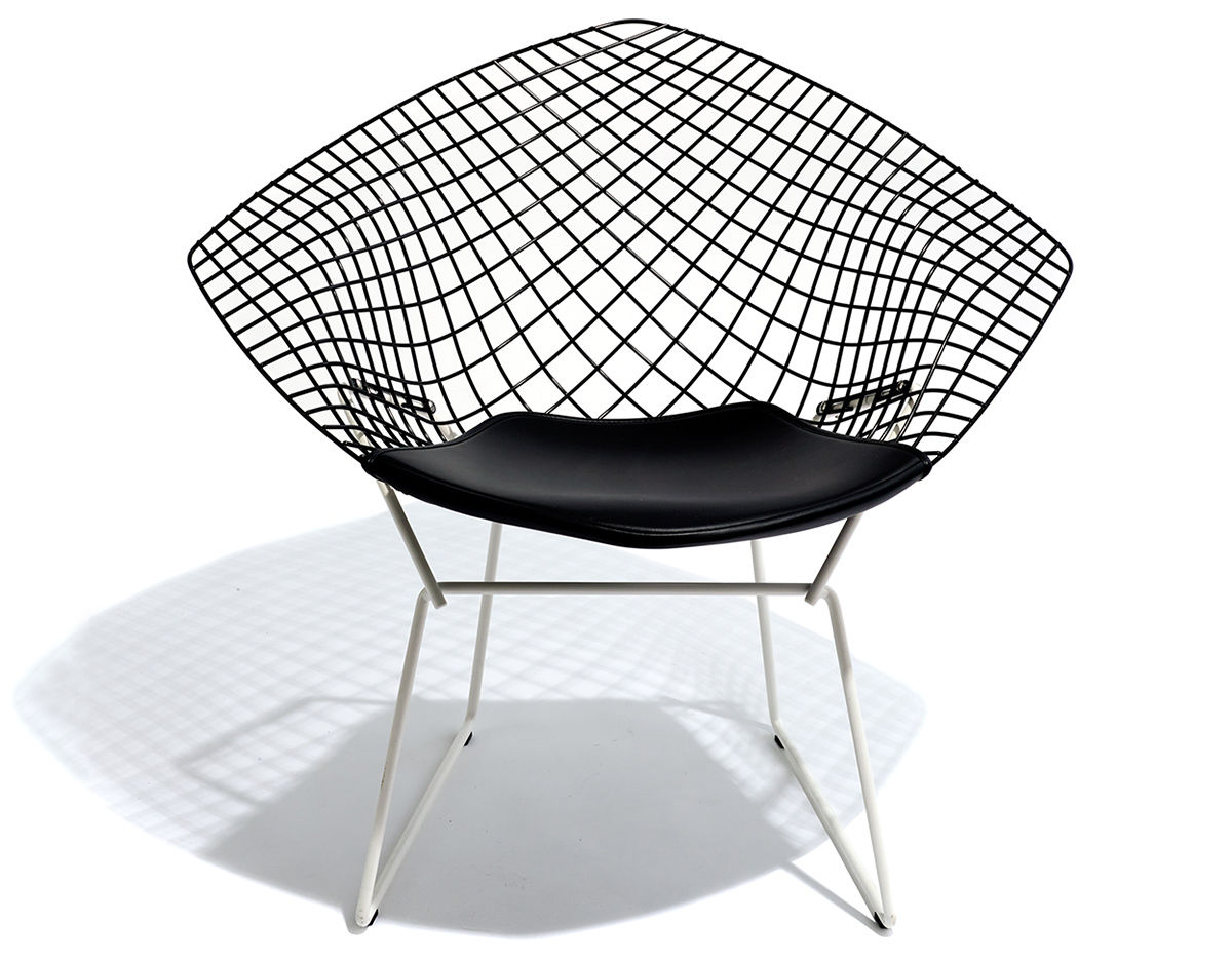 Harry Bertoia Chair Bertoia Diamond Chair Two Tone With Seat Cushion