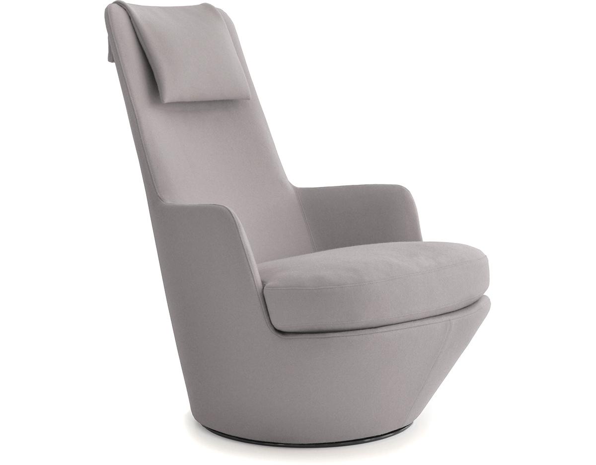 comfortable swivel chair vitra hanging hi turn lounge - hivemodern.com