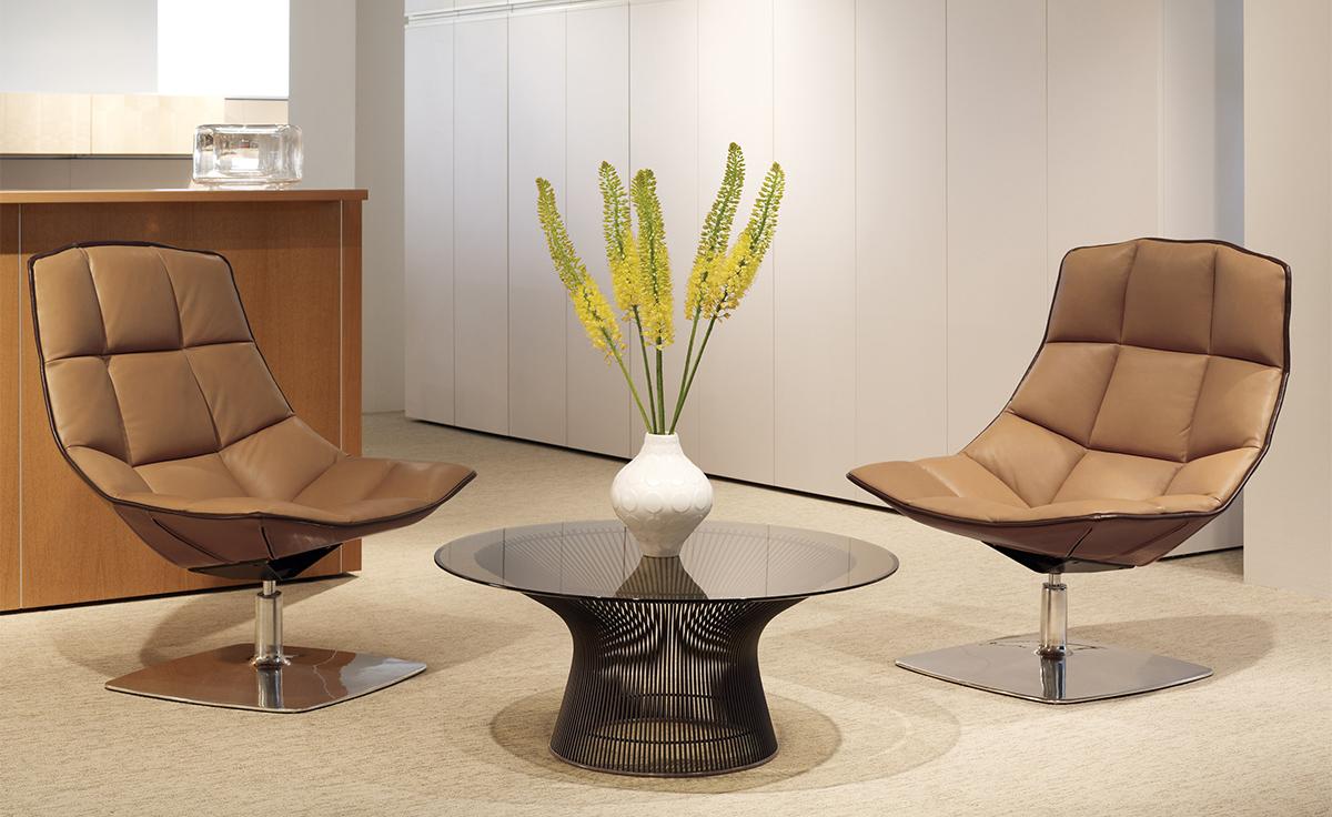 jehs laub lounge chair safavieh colin tufted club pedestal hivemodern com