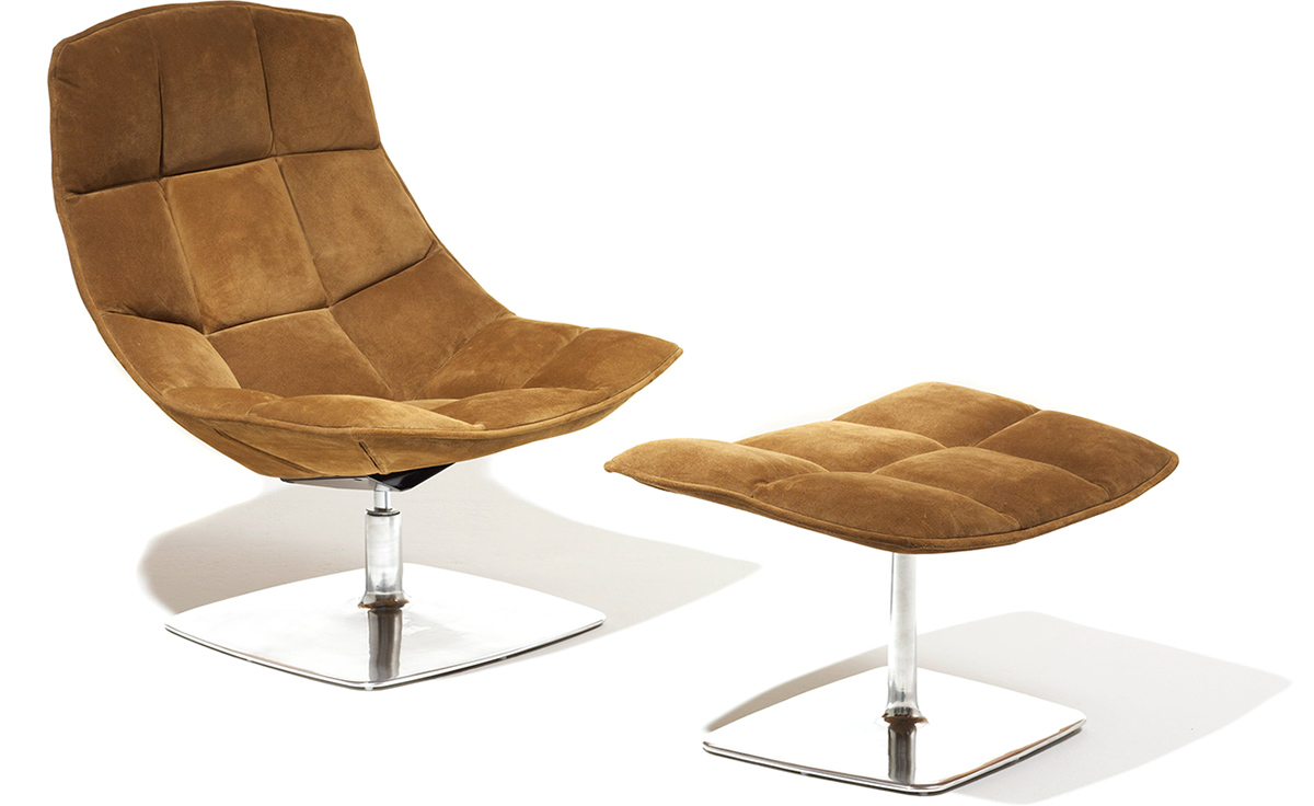 jehs laub lounge chair best computer chairs for gaming pedestal ottoman hivemodern com