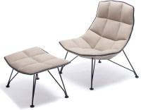 Jehs+laub Wire Lounge Chair & Ottoman - hivemodern.com