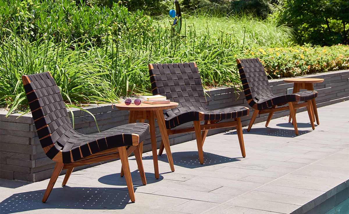 Outside Lounge Chairs Jens Risom Outdoor Lounge Chair