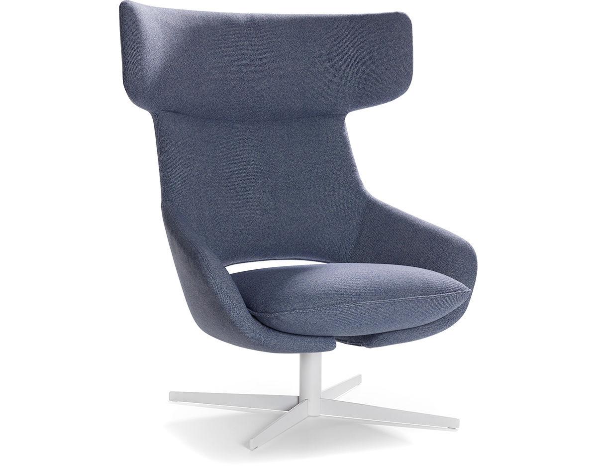 Kalm Swivel Metal Base Lounge Chair