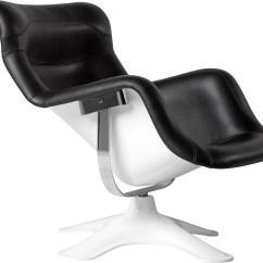 White Shell Chair Geri Recliner Karuselli Lounge - Hivemodern.com