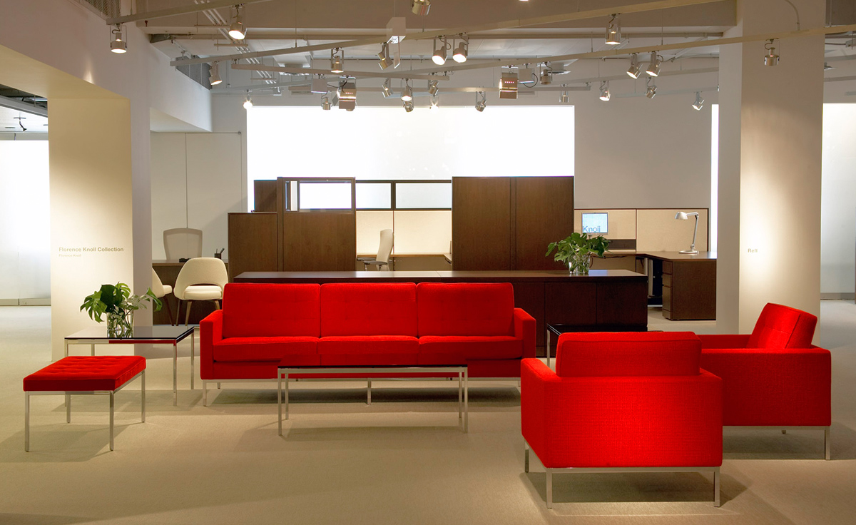 red tufted dining chair brookstone massage florence knoll 3 seat sofa - hivemodern.com