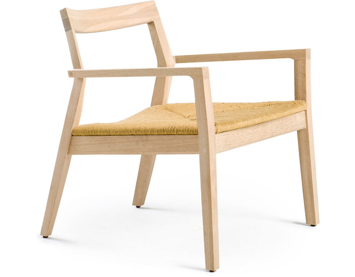 Woven Chair Krusin Lounge Arm Chair With Woven Seat Hivemodern