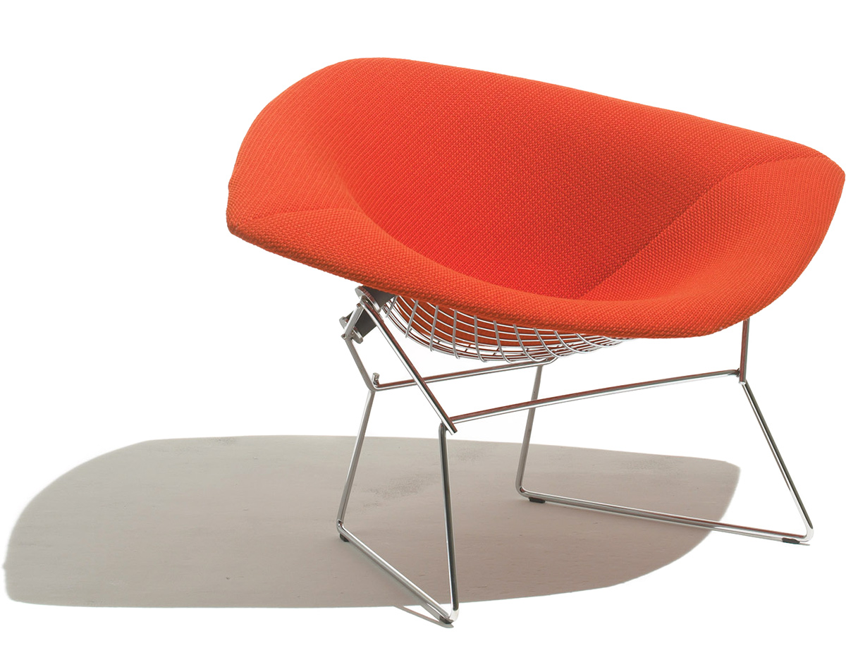 Bertoia Chairs Bertoia Large Diamond Chair With Full Cover Hivemodern