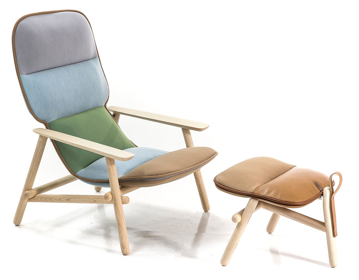 swing chair patricia urquiola blue upholstered office lilo lounge and ottoman hivemodern