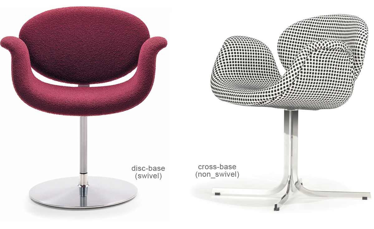 modern low back sofas ed sofa slipcovers little tulip chair with disc base - hivemodern.com
