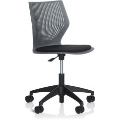 Knoll Generation Task Chair Blue Wing Back Multigeneration Light With 5 Star Base