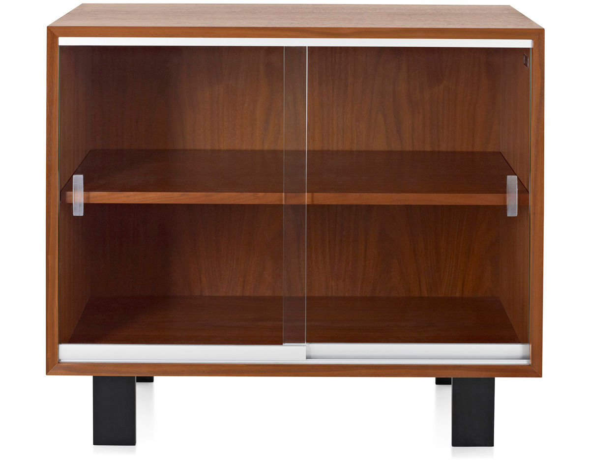Nelson Basic Cabinet With Glass Sliding Doors  hivemoderncom