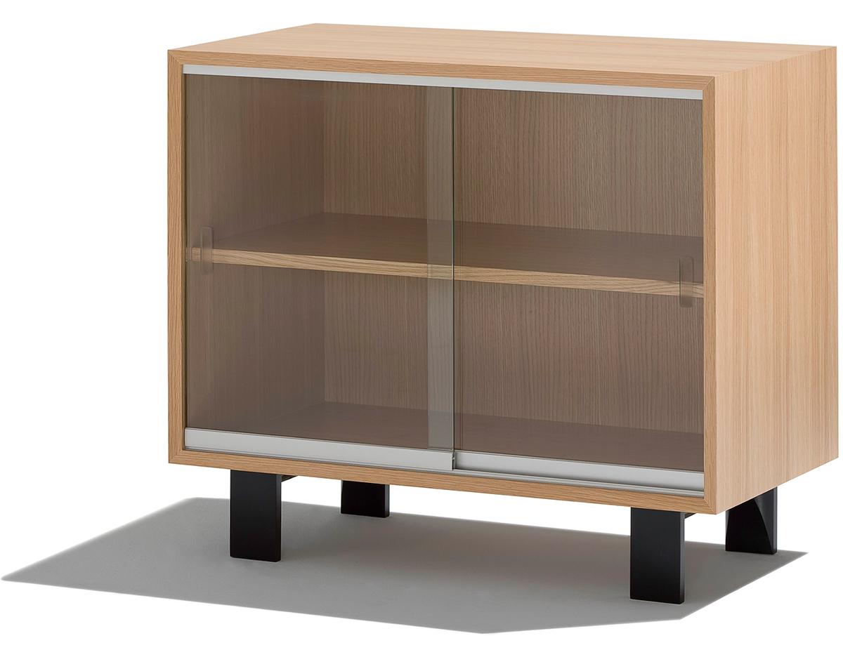Nelson Basic Cabinet With Glass Sliding Doors  hivemoderncom