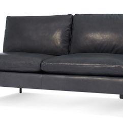 Blu Dot Chairs Steel Chair On Gem New Standard Armless Leather Sofa - Hivemodern.com