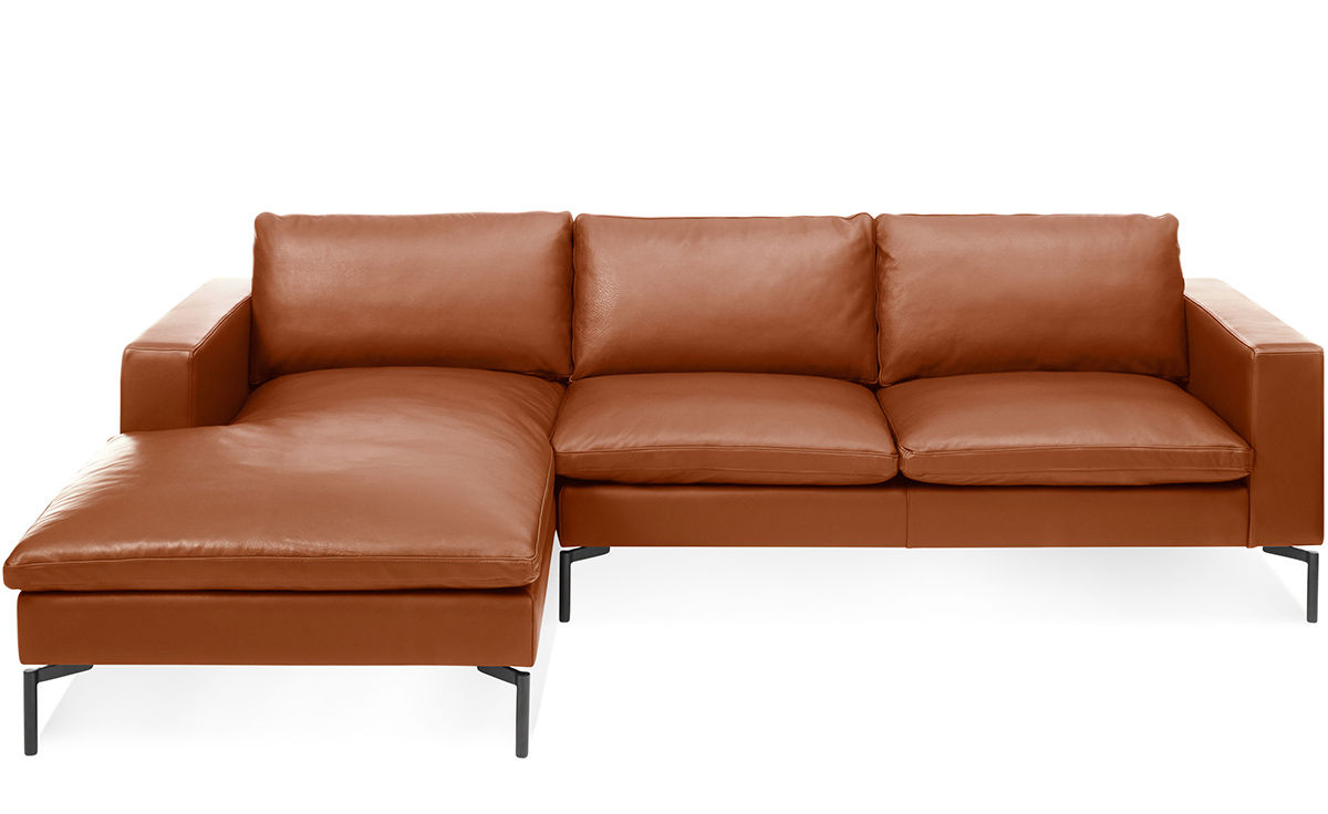 turner leather sofa pottery barn reviews narrow side table chaise dekalb 2 piece ...