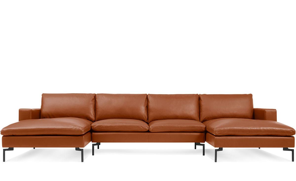 new standard u shaped leather sectional sofa