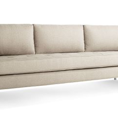Blu Dot Bank Sofa Modern Leather And Wood Paramount 66 Studio By