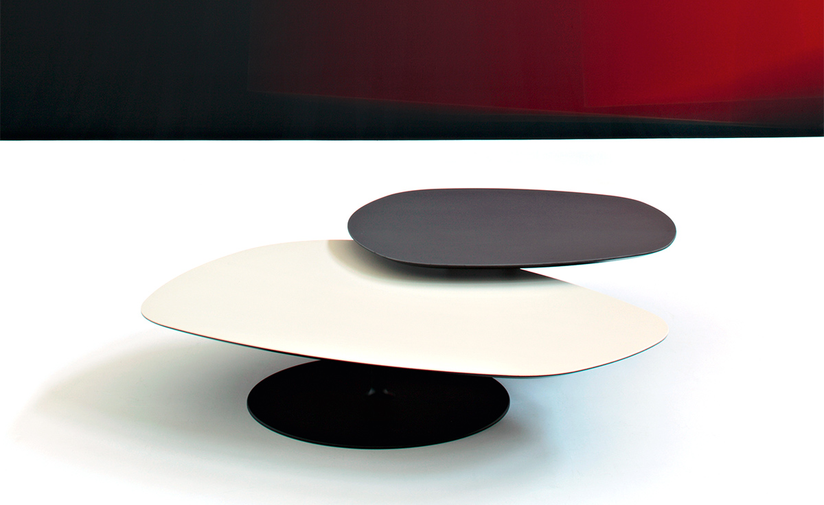 Phoenix Coffee Table With Metal Base  hivemoderncom