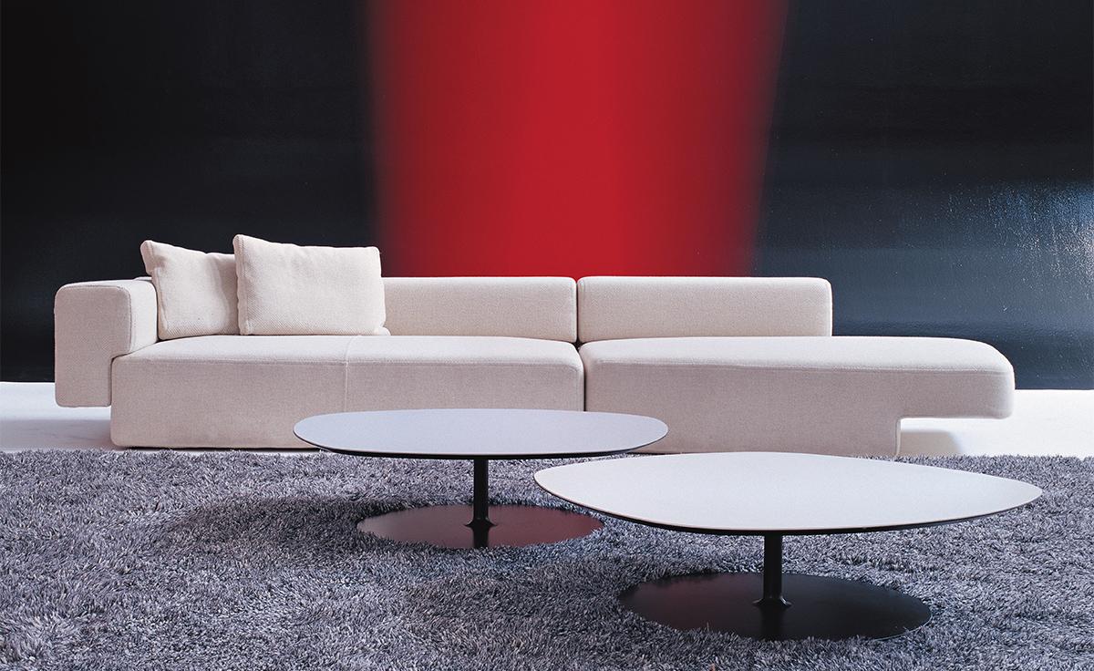 Phoenix Coffee Table With Metal Base  hivemoderncom