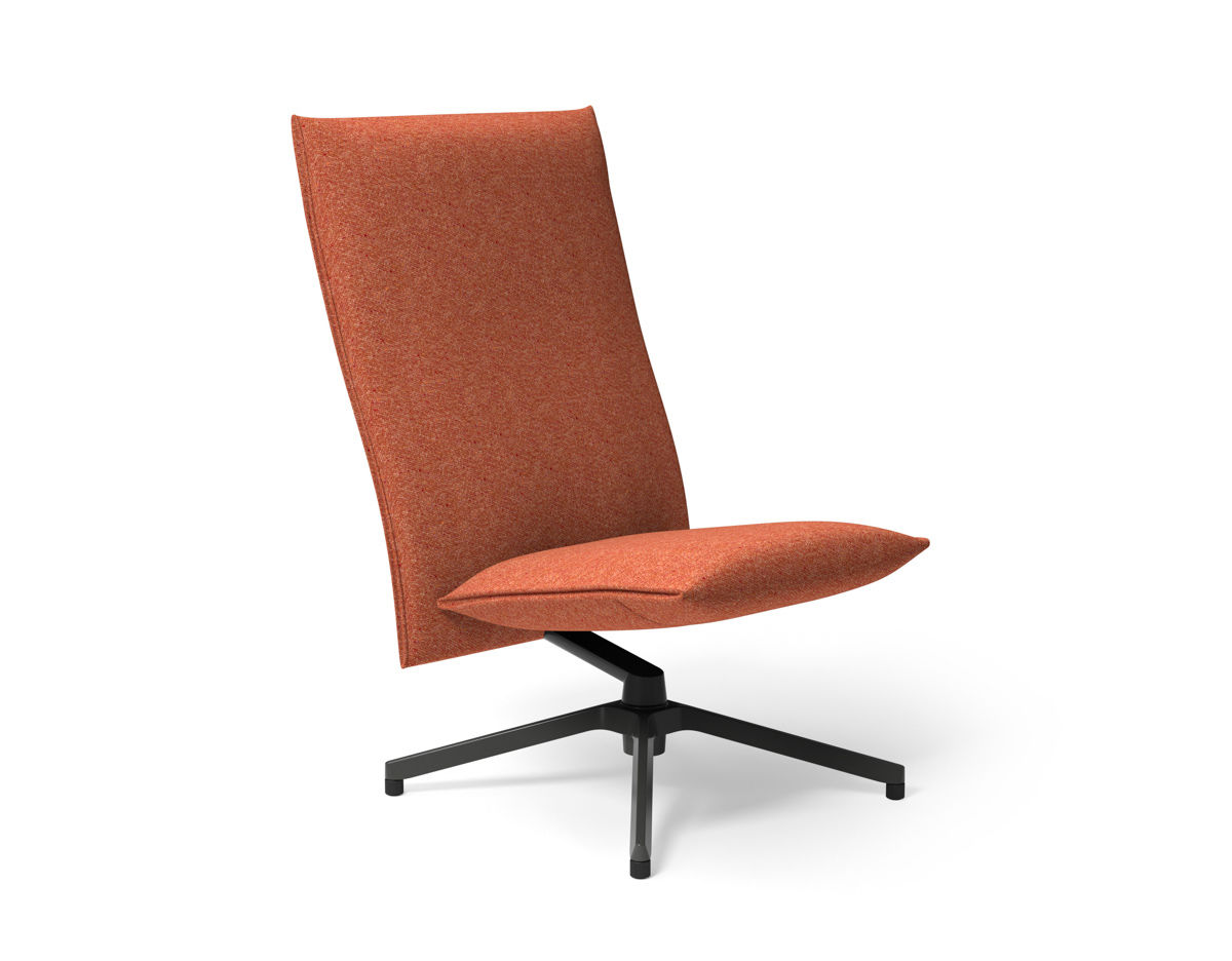 Armless Lounge Chair Pilot High Back Lounge Chair