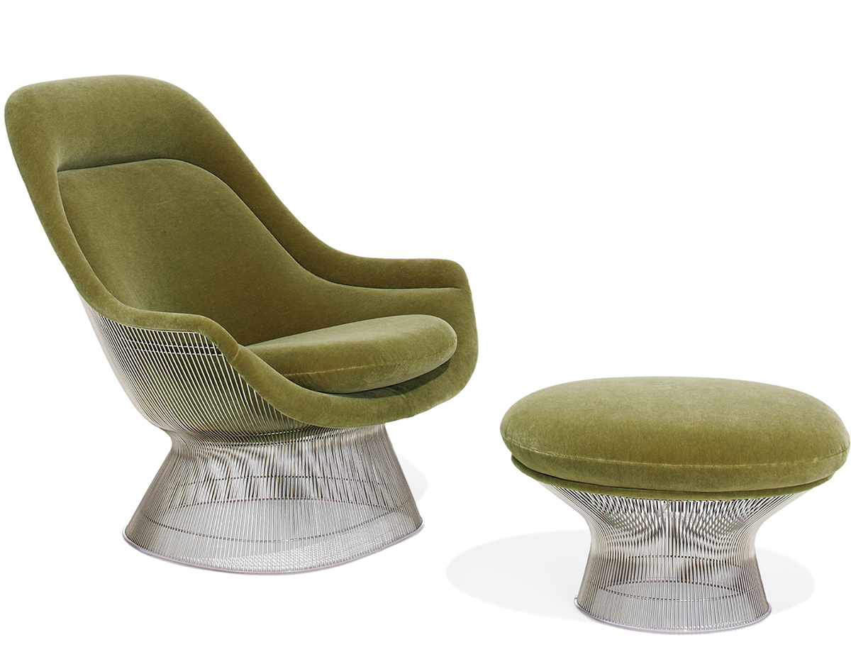 Easy Chairs Platner Easy Chair And Ottoman Hivemodern