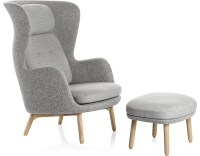 Ro Lounge Chair And Ottoman - hivemodern.com