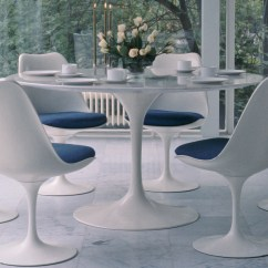 Tulip Table And Chairs Revolving Chair For Salon Saarinen Dining Arabescato Marble Hivemodern Com