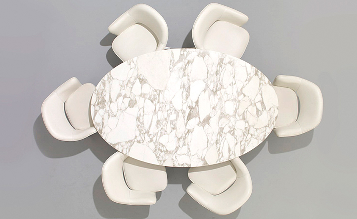 Saarinen Dining Table Arabescato Marble  hivemoderncom