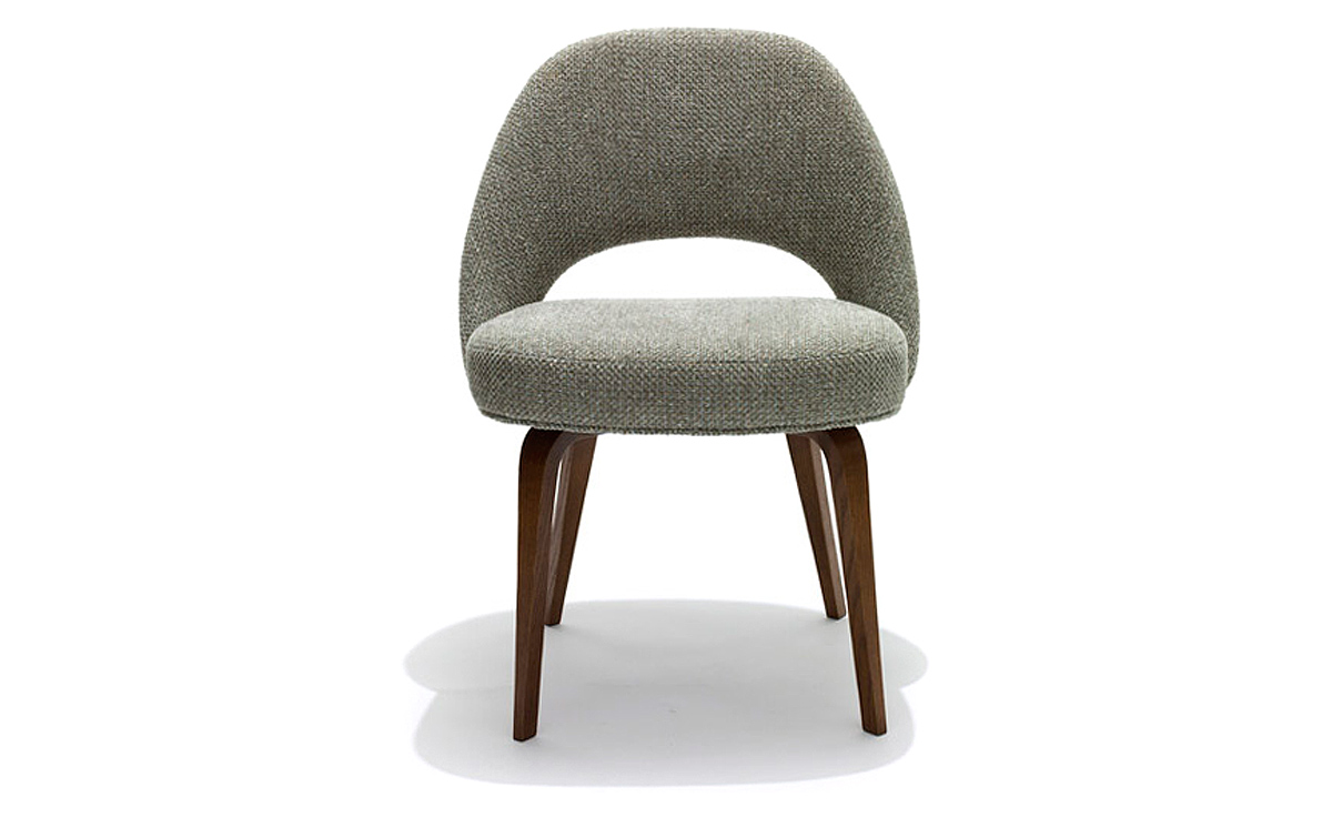 swivel chair armless papasan outdoor cushion saarinen executive side with wood legs - hivemodern.com
