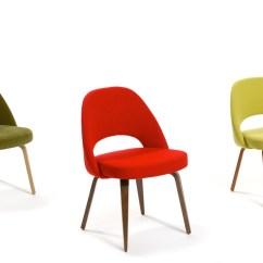 Swivel Chair Armless Senior Yoga Saarinen Executive Side With Wood Legs - Hivemodern.com
