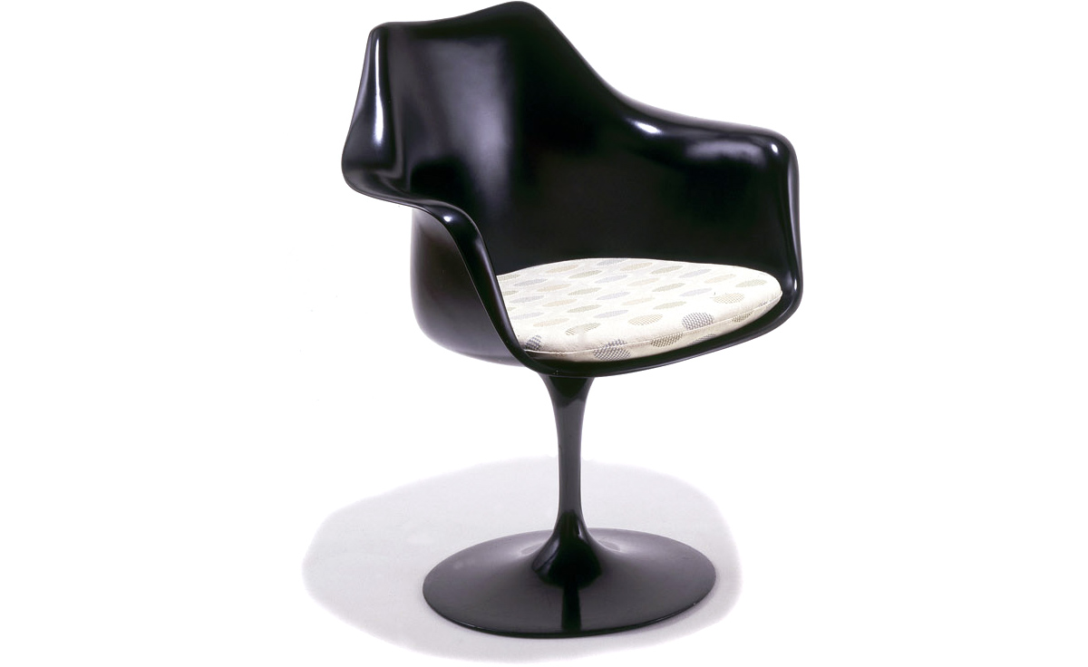 Saarinen Black Tulip Arm Chair  hivemoderncom