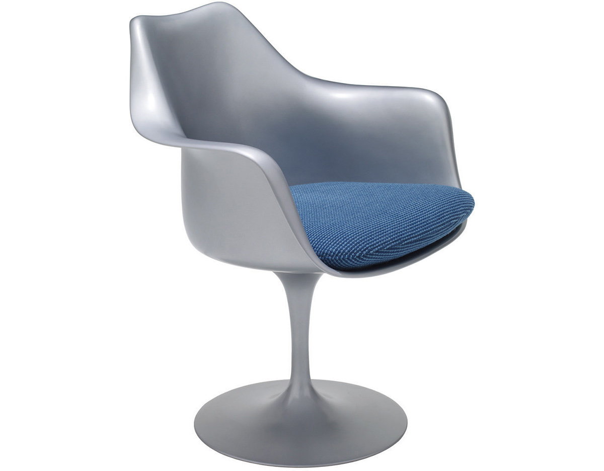 knoll saarinen chair contemporary chairs for living room platinum tulip arm hivemodern