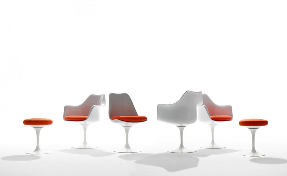 Saarinen White Tulip Arm Chair  hivemoderncom
