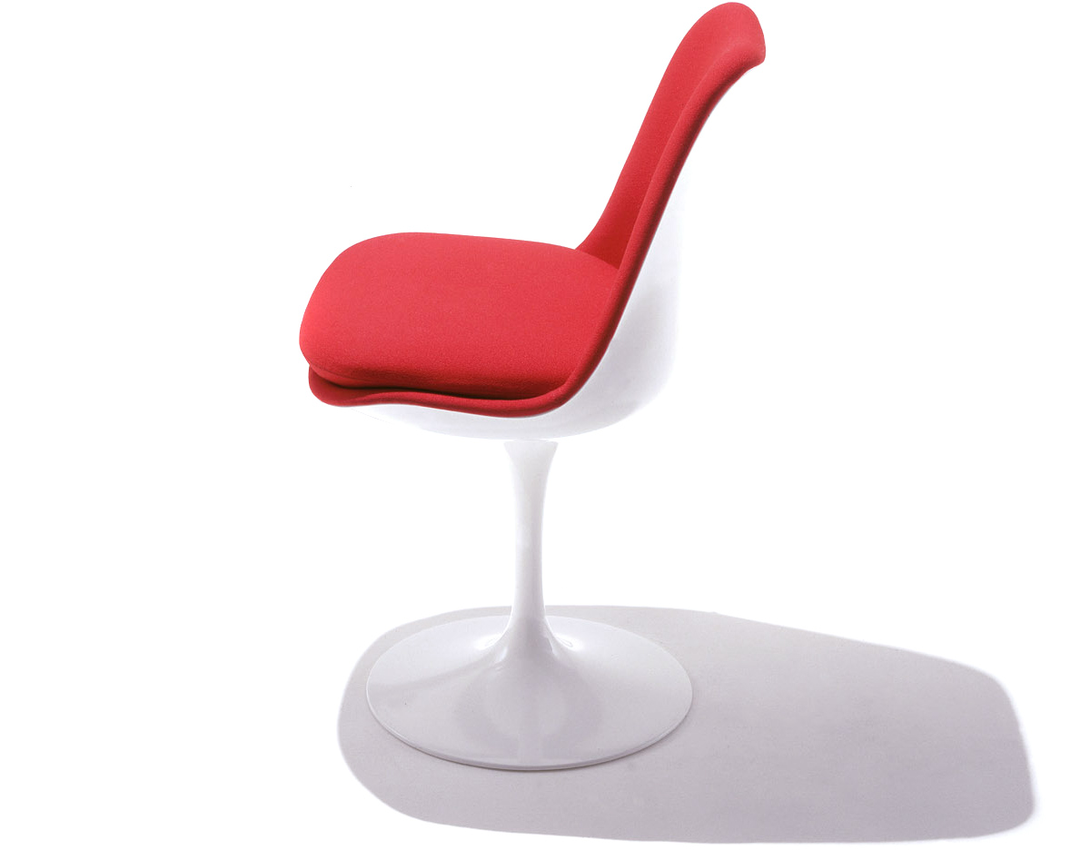 knoll saarinen chair stand desk tulip side fully upholstered hivemodern