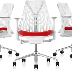Herman Miller Stacking Chairs Markus Swivel Chair Review Sayl Task - Hivemodern.com